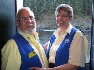 Ken and Shirley are among the couples working as car hosts. They also serve on the board of directors and assist with many aspects of train and depot operations.